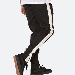 Mens mnml.la Track Pants Black White Fear Of God